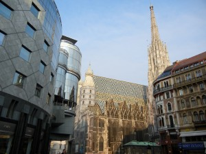 """The center of Vienna with the """"Stephansdom"""""""